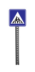 Traffic Warning Signboard - isolated