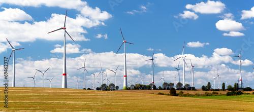 canvas print picture Windkraftanlage Onshore