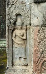 sculpture at Ta Prohm