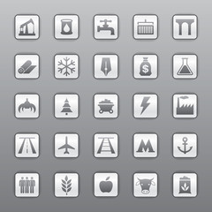 Vector set icons, industrial and transport icons, vector design