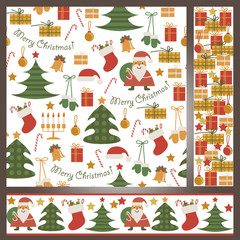 Seamless pattern with Christmas accessories
