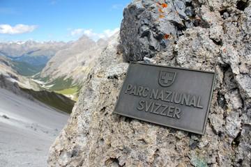Schweizer Nationalpark Tafel