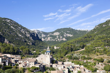 Ancient mountain village in Valldemosa, Mallorca island, Spain