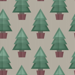 Seamless Christmas Tree Background