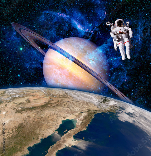 Space Astronaut Spaceman - 69464102