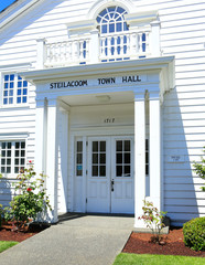 Steilacoom town hall. Historical building.