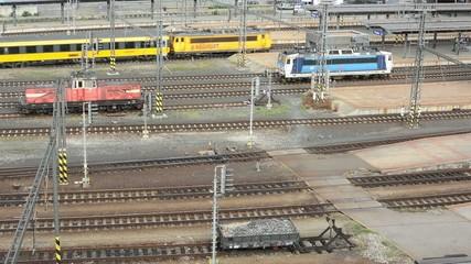 railway yard - passing trains - main train station