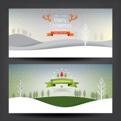 merry christmas card.vector