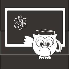 buho profesor de ciencias BN