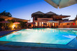 Modern house  swimming pool night - 69465500