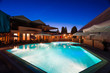 Modern house  swimming pool night - 69465551