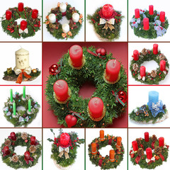 Collage - Adventskränze selbstgemacht