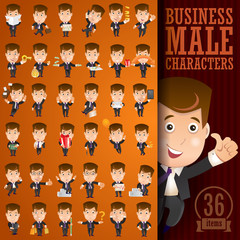 Business male character set