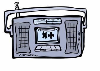 doodle radio tape recorder