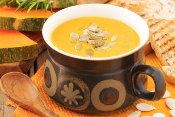 Butternut squash or pumpkin soup