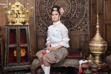 Gorgeous asian woman in thai dress