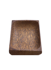 asian wooden tray on white background