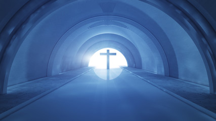 Cross and tunnel