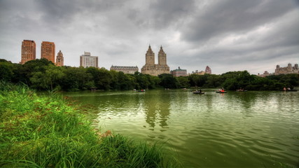 Central Park with Skyscrapers in the background