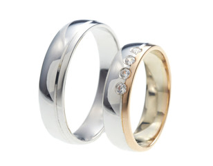 Wedding rings isolation