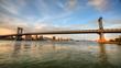 Traffic on Manhattan Bridge over the East River