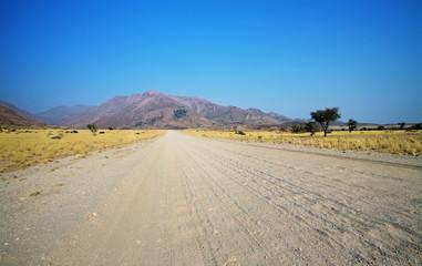 Landscape and road in Damaraland area