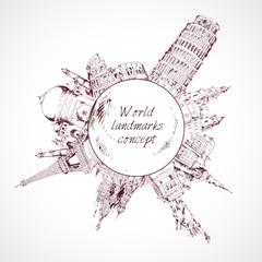 World landmark concept