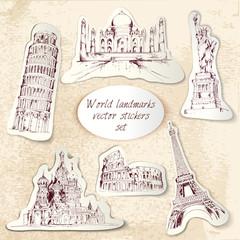 World landmark stickers