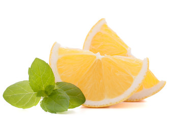 Lemon or citron citrus fruit slice