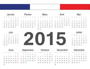 Vecto french rcircle calendar 2015