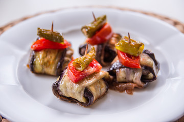 Islim Kebab Wrapped in Eggplants.Turkish cuisine.
