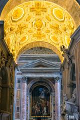 Interior of St. Peter's Basilica in Rome