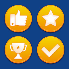 Vector golden gamification badges