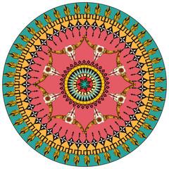 Tribal round ornamental background