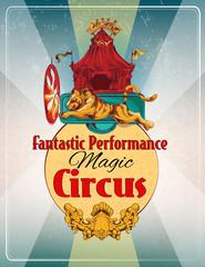 Circus retro poster