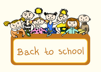 Decorative back to school background