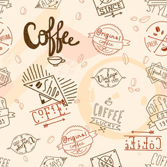 Vintage retro coffee seamless