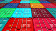 Lots of Colorful Cargo Containers. - 69470718