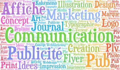 marketing communication, nuage de mots