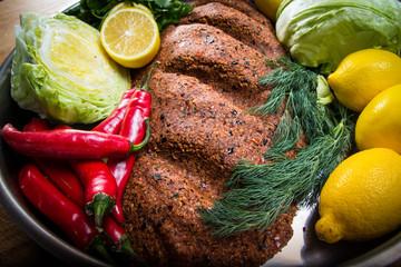 Cigkofte.Turkish food.