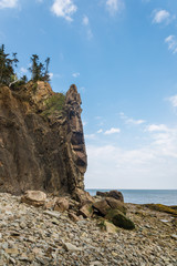 Cliifs of Cape Enrage along the Bay of Fundy
