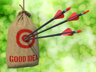 Good Idea - Arrows Hit in Red Target.