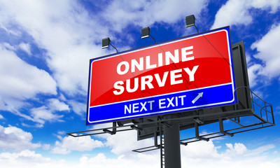 Online Survey on Red Billboard.