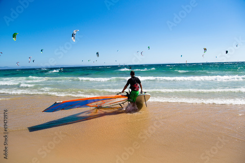 canvas print picture Windsurfen Tarifa