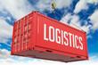 Logistics - Red Hanging Cargo Container. - 69471103