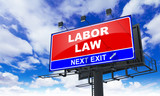 Labor Law on Red Billboard. poster
