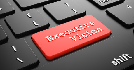 Executive Vision on Red Keyboard Button.