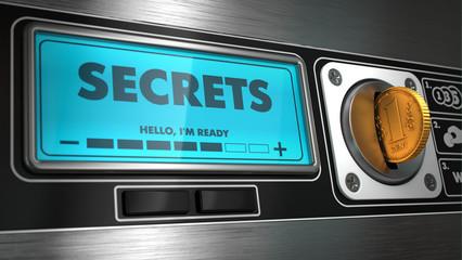 Secrets on Display of Vending Machine.