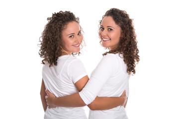 Beste Freundinnen: eineiige Zwillinge