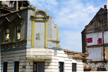Wohnhäuser werden abgerissen
